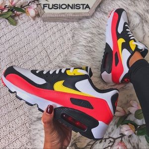 NWT🍭 Gorgeous Nike Air Max 90 Red/Yellow 7Y/8.5W